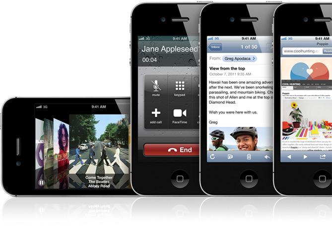 lots of iphones