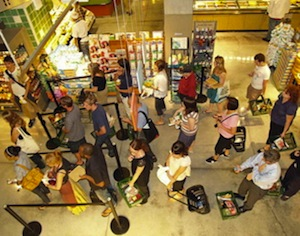 shopping-checkout lines-retail