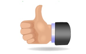 thumbs up-approve-like