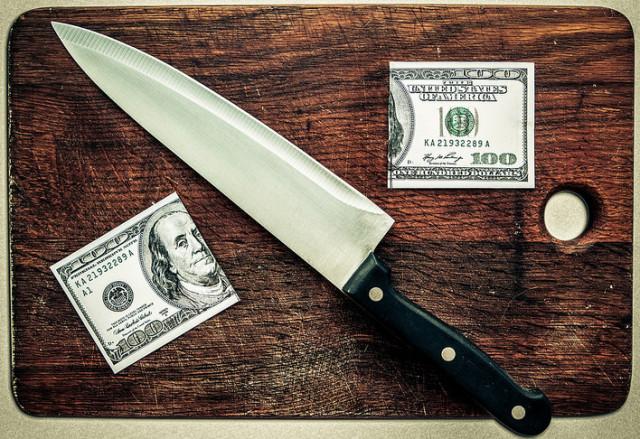 Money Cut in Half