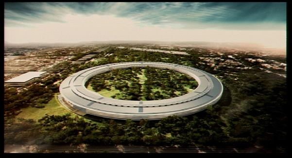 Mock-up of Apple's New Campus
