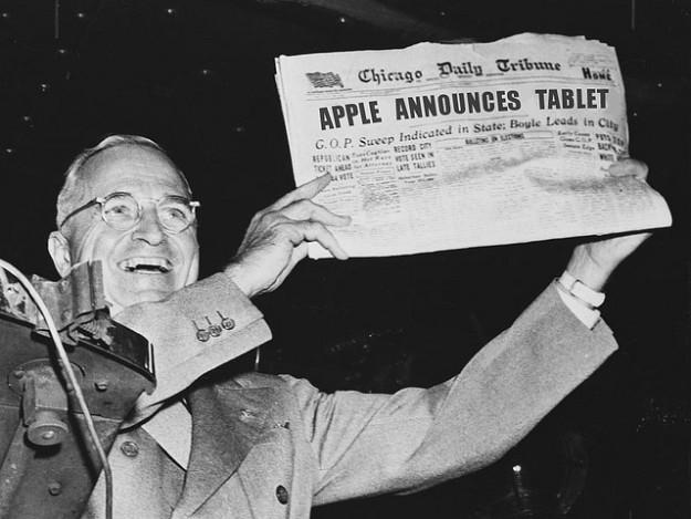 apple announces tablet man