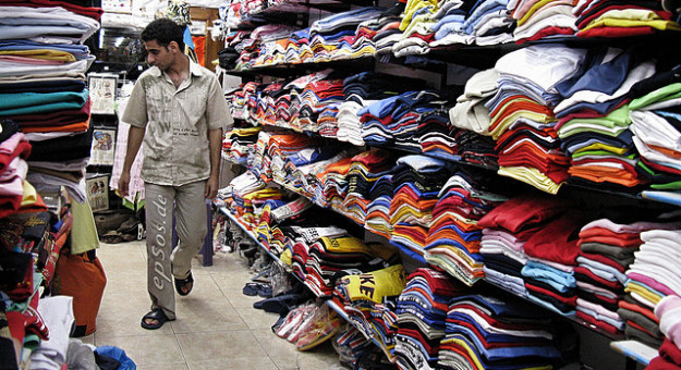 consumer shopping clothes