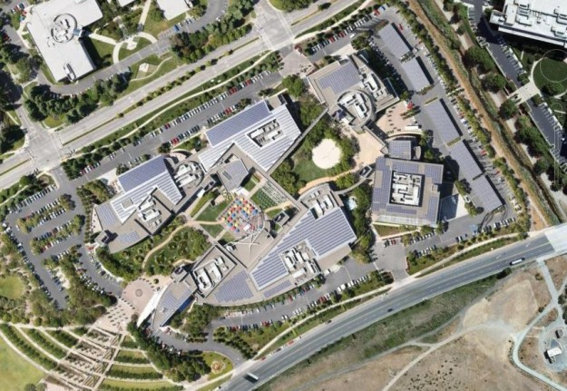 Google's Campus from Google Earth