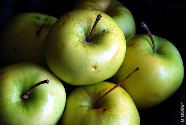 green apples closeup