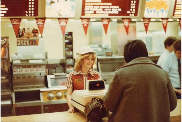 mcdonalds retro fast food