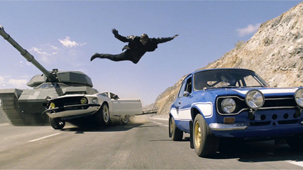 Screen from Fast and Furious 6