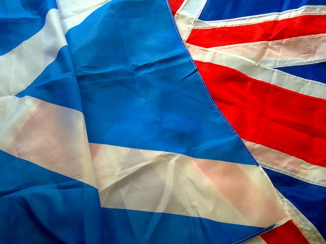british flag close up