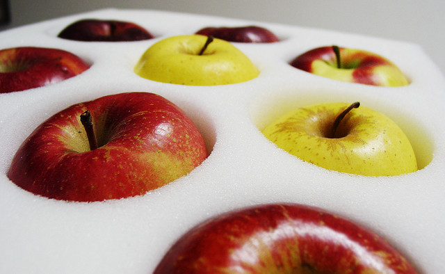packed up apples