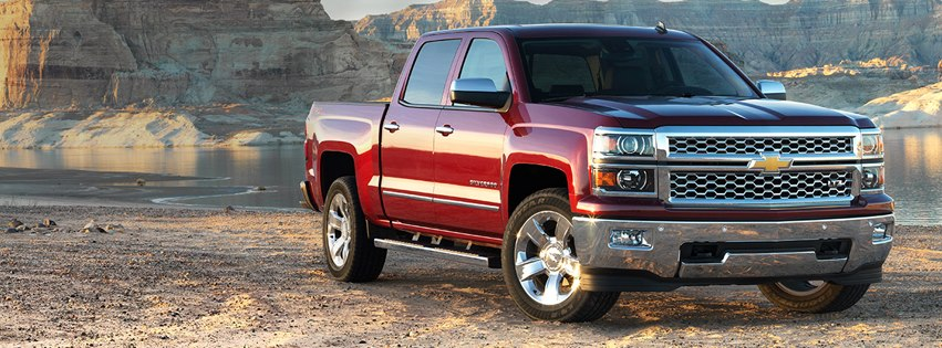 Chevy Silverado Red Pickup