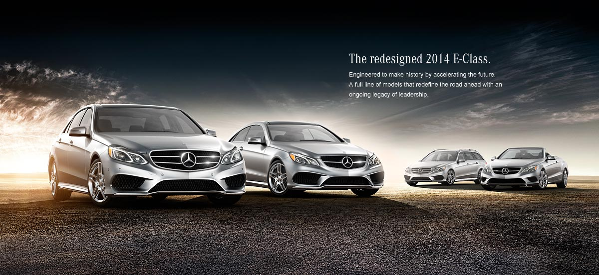 Mercedes Benz E-class line up cars