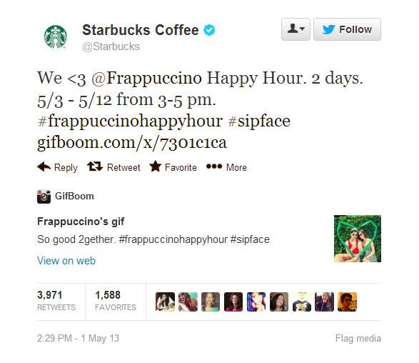 Starbucks tweet 1