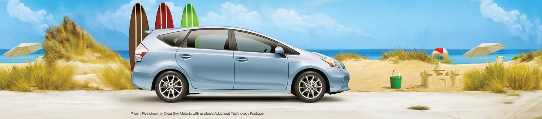 Toyota Prius V car beach