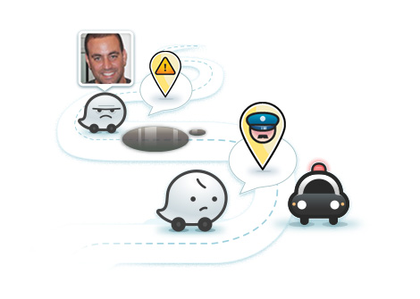 Waze map road block
