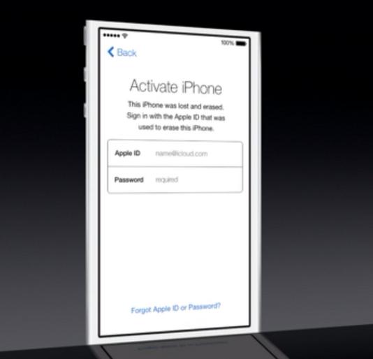 Activation Lock Apple WWDC 2013