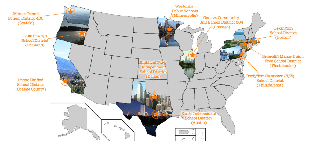 Map US best cities families
