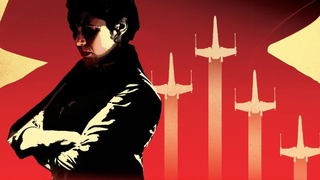 Princess Leia on the cover of Claudia Gray's Bloodline Novel