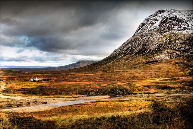 Mountain in highlands of Scotland