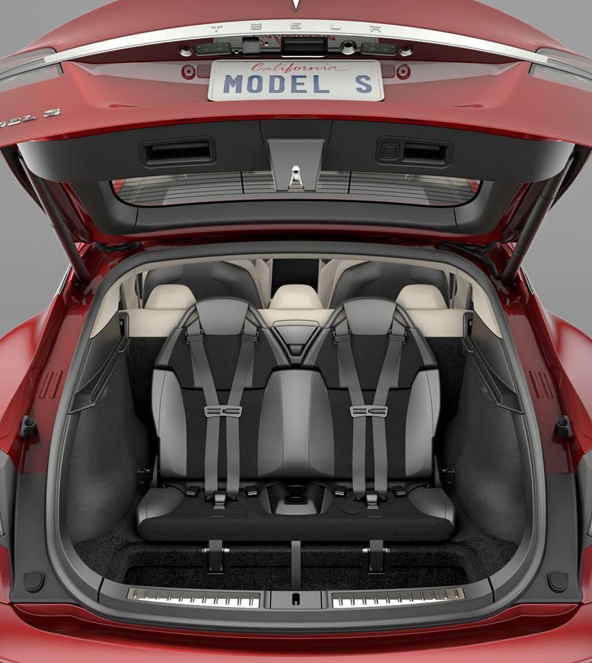 Tesla Rear Facing Seats Model S