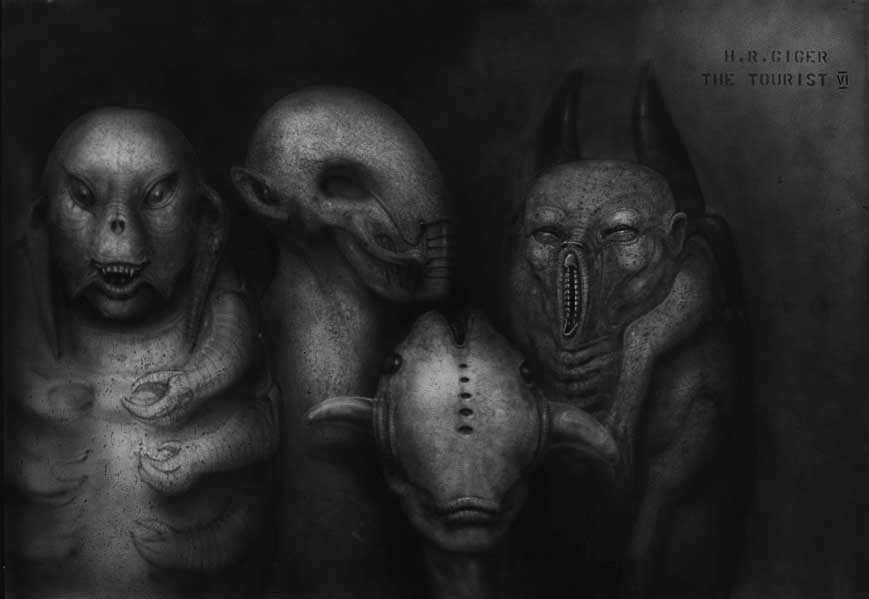 Concept art for The Tourist by H.R. Giger