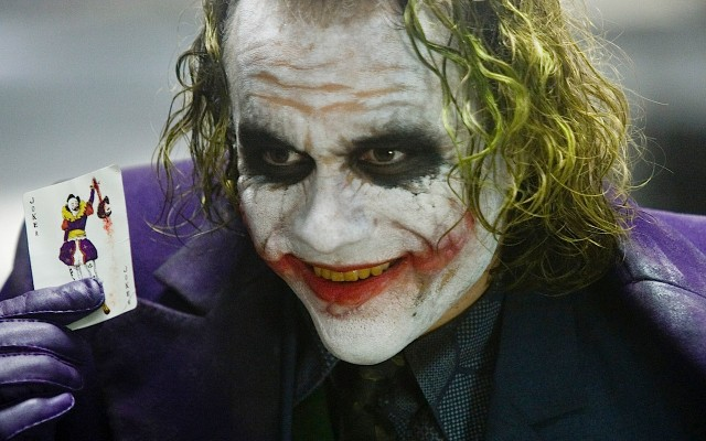 Heath Ledger as The Joker , The Dark Knight