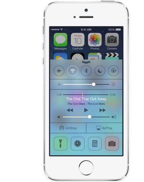 Apple iOS 7 Control Center