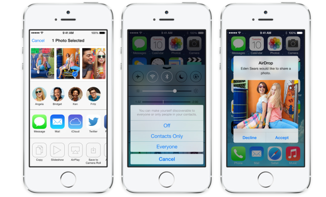 Apple iOS 7 AirDrop
