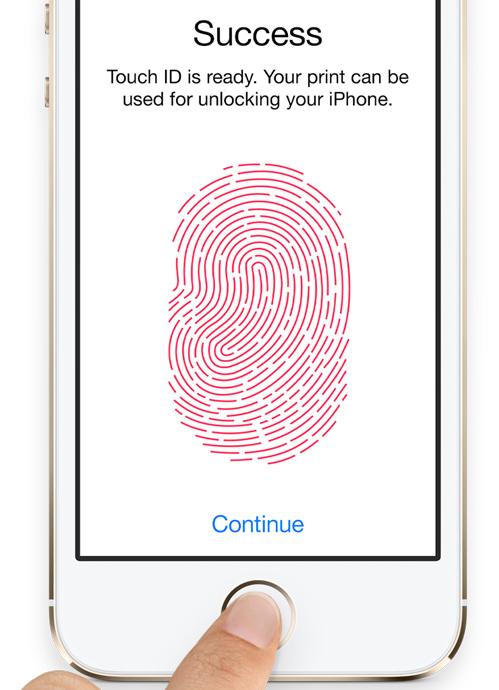 Apple iPhone 5S fingerprint sensor
