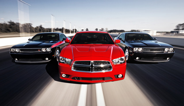 2014 Dodge Charger R/T with 2014 Dodge Challenger R/T and 2014 D