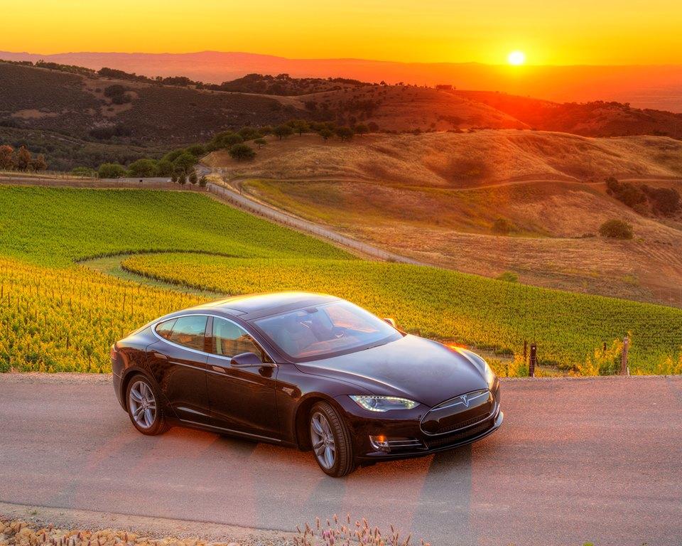 Tesla Model S Napa Valley