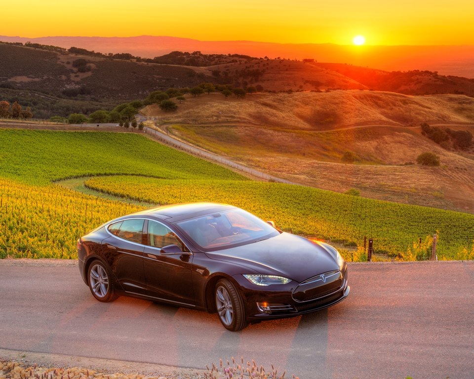 Tesla Model S Napa Valley