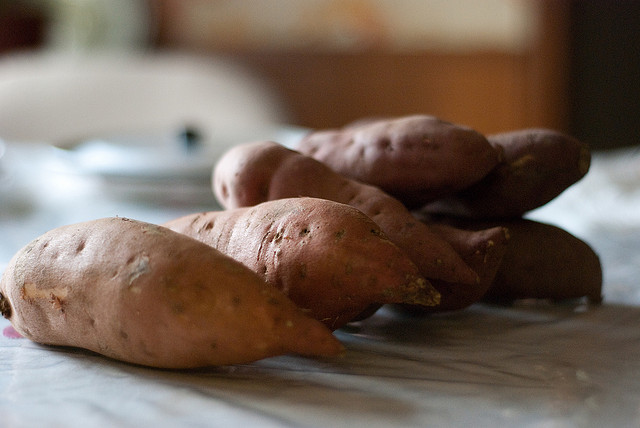 yams, sweet potato, food