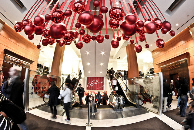 Decorated Christmas Stores