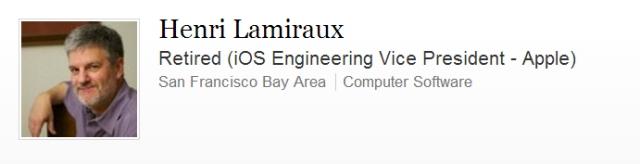 Henri Lamiraux LinkedIn profile screenshot