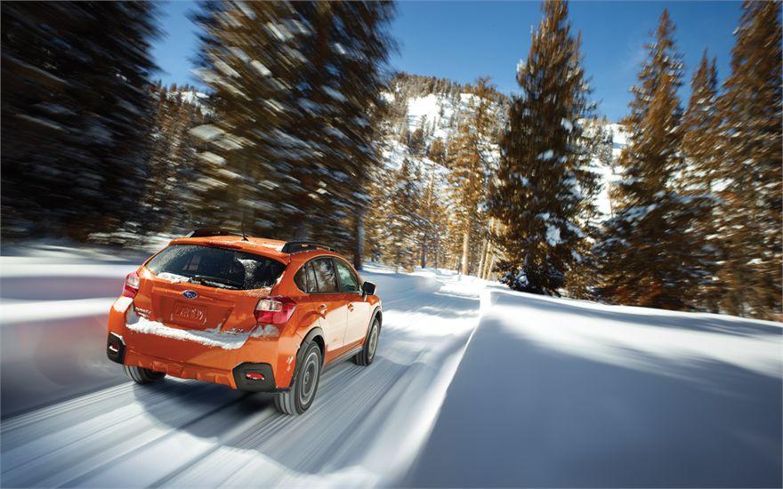 Subaru in Snow