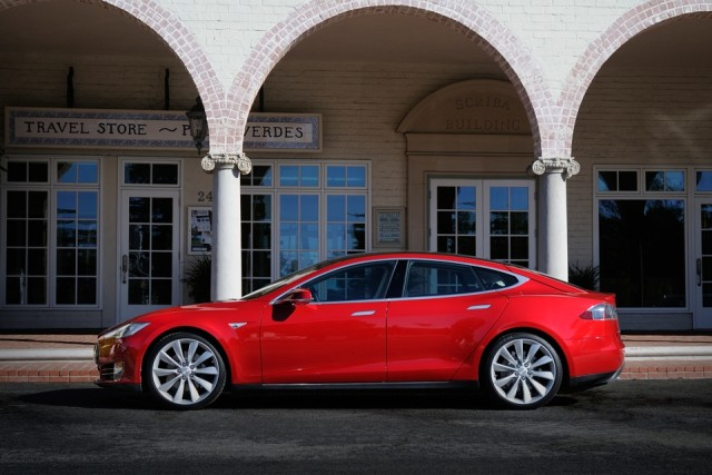 Tesla Model S in Red