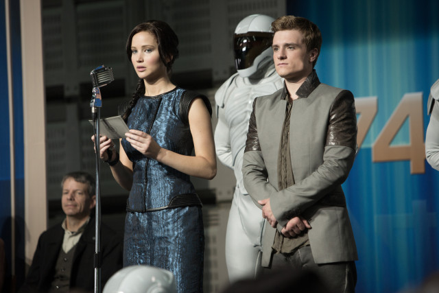 Jennifer Lawrence and Josh Hutcherson star as Katniss Everdeen and Peeta Mellark.