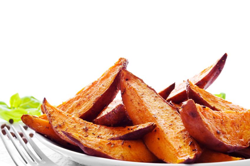 Maple baked sweet potatoes