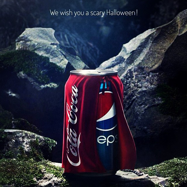 pepsi spooks coke with this halloween themed ad - Halloween Themed Pictures