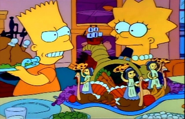 simpsons, thanksgiving, tv show