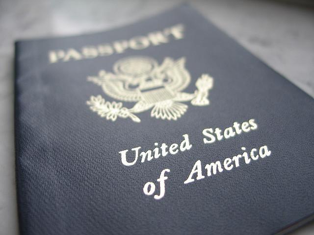 passport, travel, America