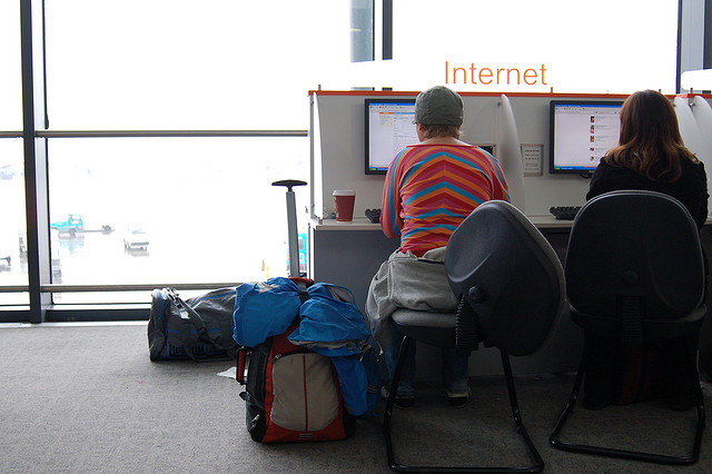 internet, airport, travel