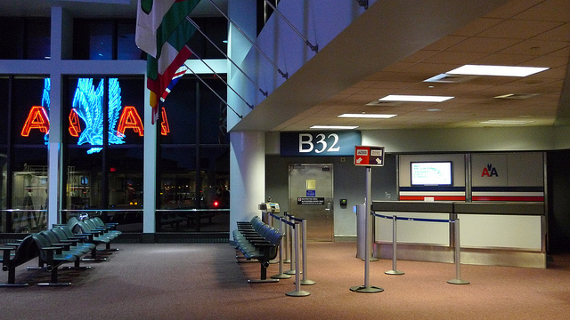 airport, airline, American Airlines, travel, gate