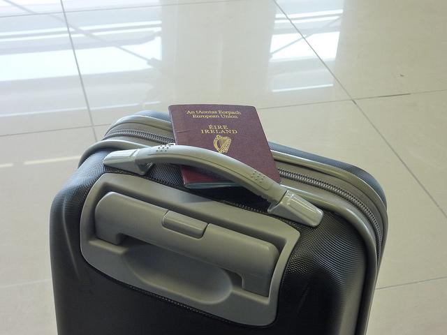 travel, luggage, passport
