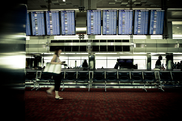 airline gate, airport, travel