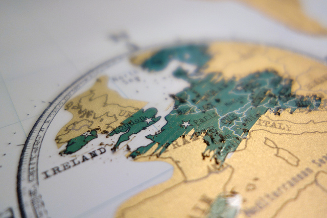 travel, scratch map