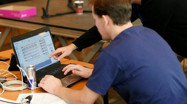 survey, laptop, man, computer, internet