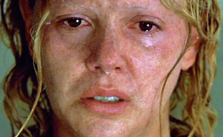 A close up on Charlize Theron in Monster, crying