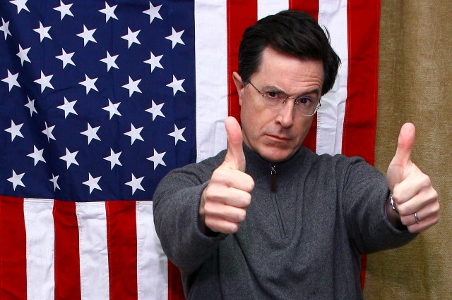 Stephen Colbert Celebrates AmeriCone Dream Ben & Jerry's Ice Cream