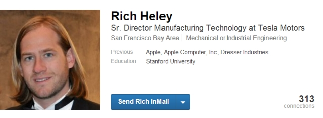 LinkedIn _Rich Heley_ screenshot